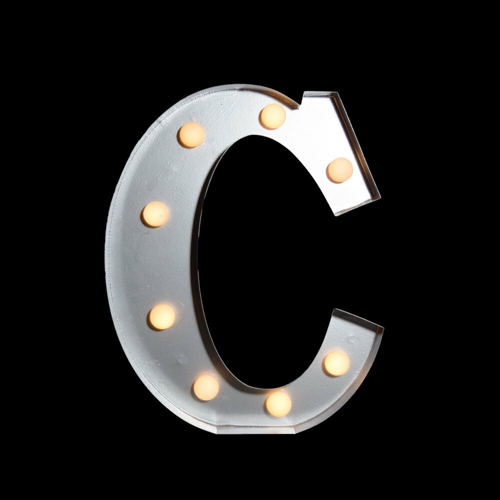 light up marquee letters marquee light letter c led metal sign 10 inch battery 15312