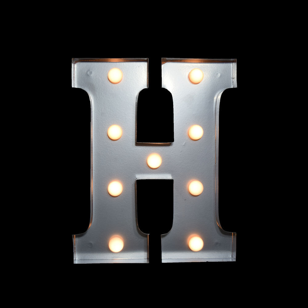 Marquee Light Letter H Led Metal Sign 10 Inch Battery Operated Ebay