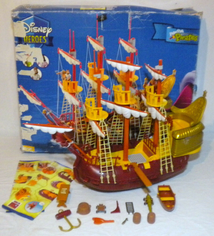 Peter Pan Toys : Walt disney peter pan pirates hook pirate ship famosa