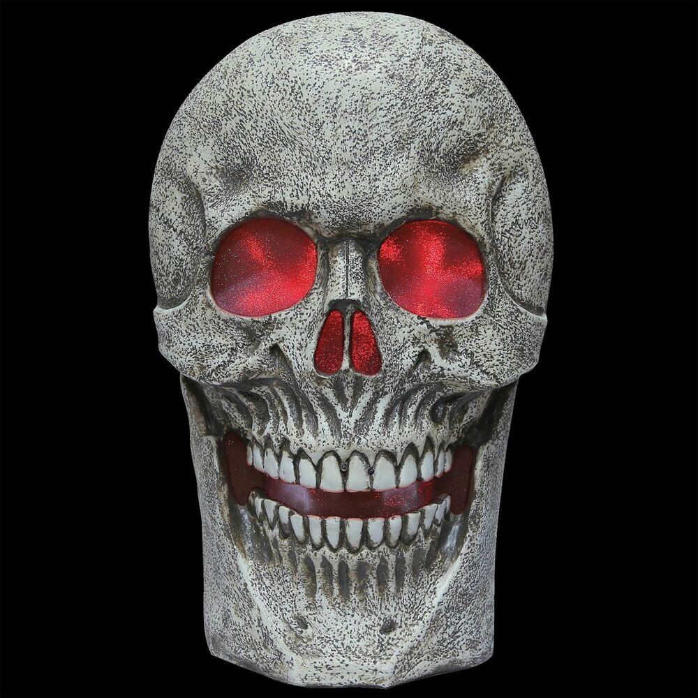 Scary GIANT LIGHTED SKULL W-SPOOKY SOUND Halloween Haunted