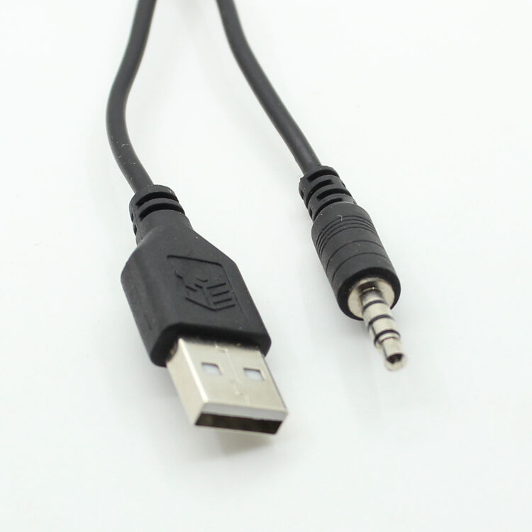 aux audio to mini usb cable cord adapter jack to usb 2 0 male port mp3 ebay. Black Bedroom Furniture Sets. Home Design Ideas