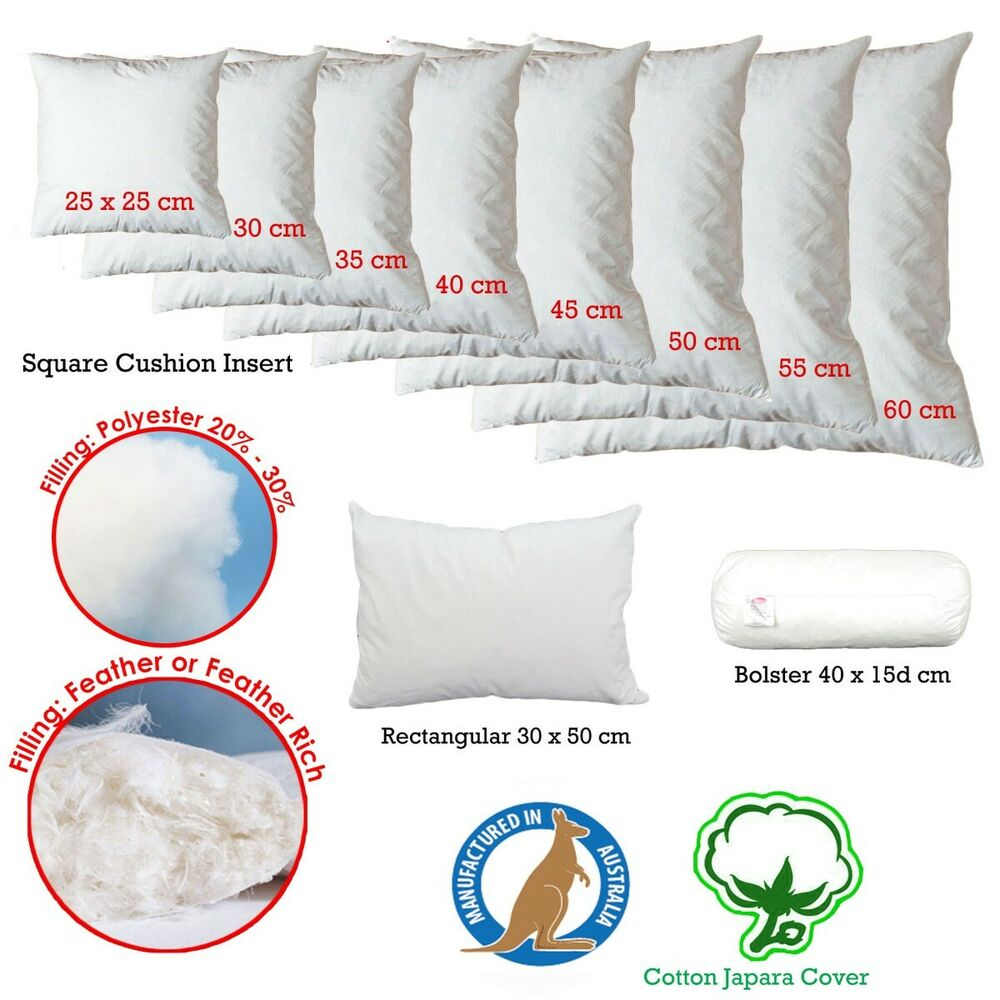 10 Sizes EASYREST Quality Duck Feather Fill Cushion ...
