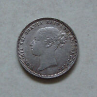 SILVER SIXPENCE 1873 COIN QUEEN VICTORIA EXTREMELY FINE GRADE