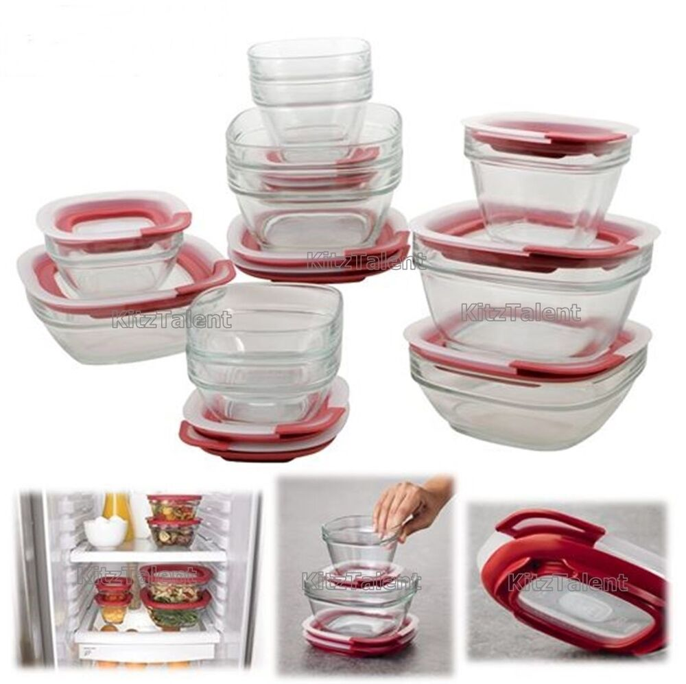 Rubbermaid Glass Food Storage Box Container 22 Piece