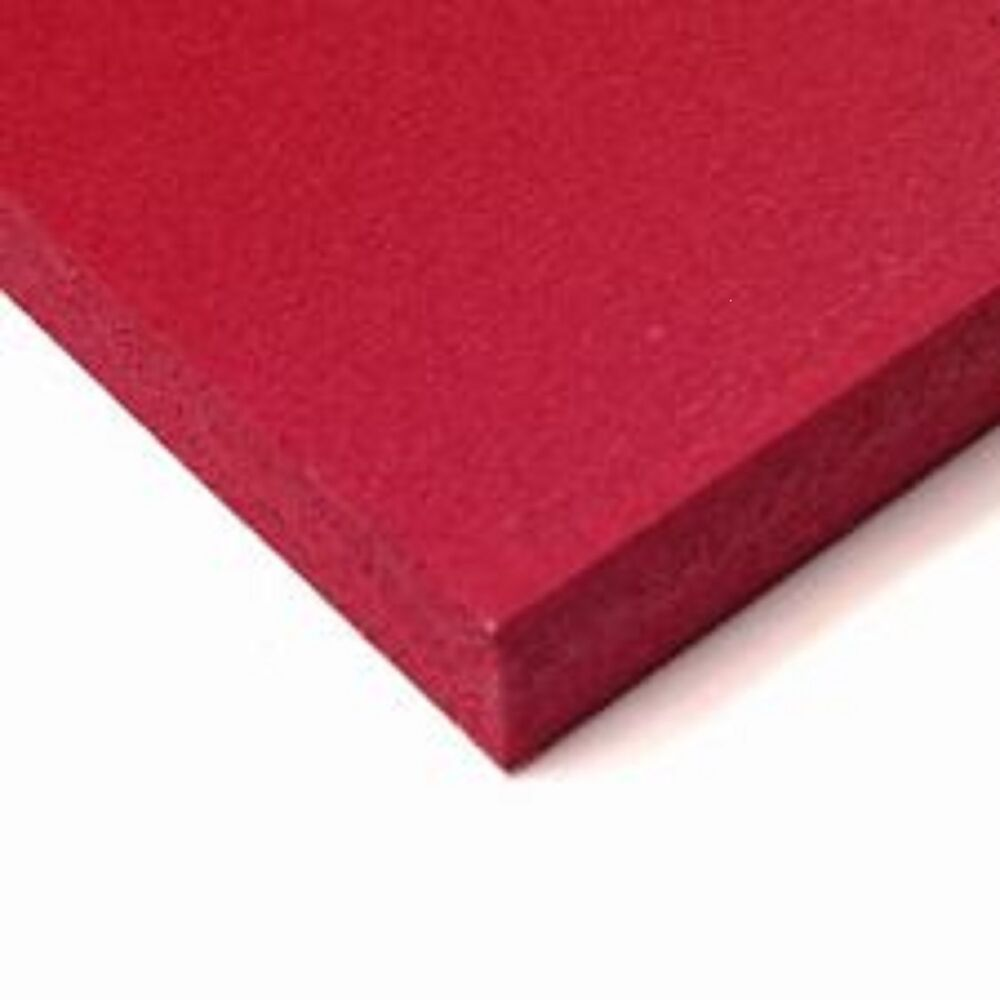 Sibe r plastic supply 3mm 1 8 dark red sintra pvc foam for Red craft foam sheets