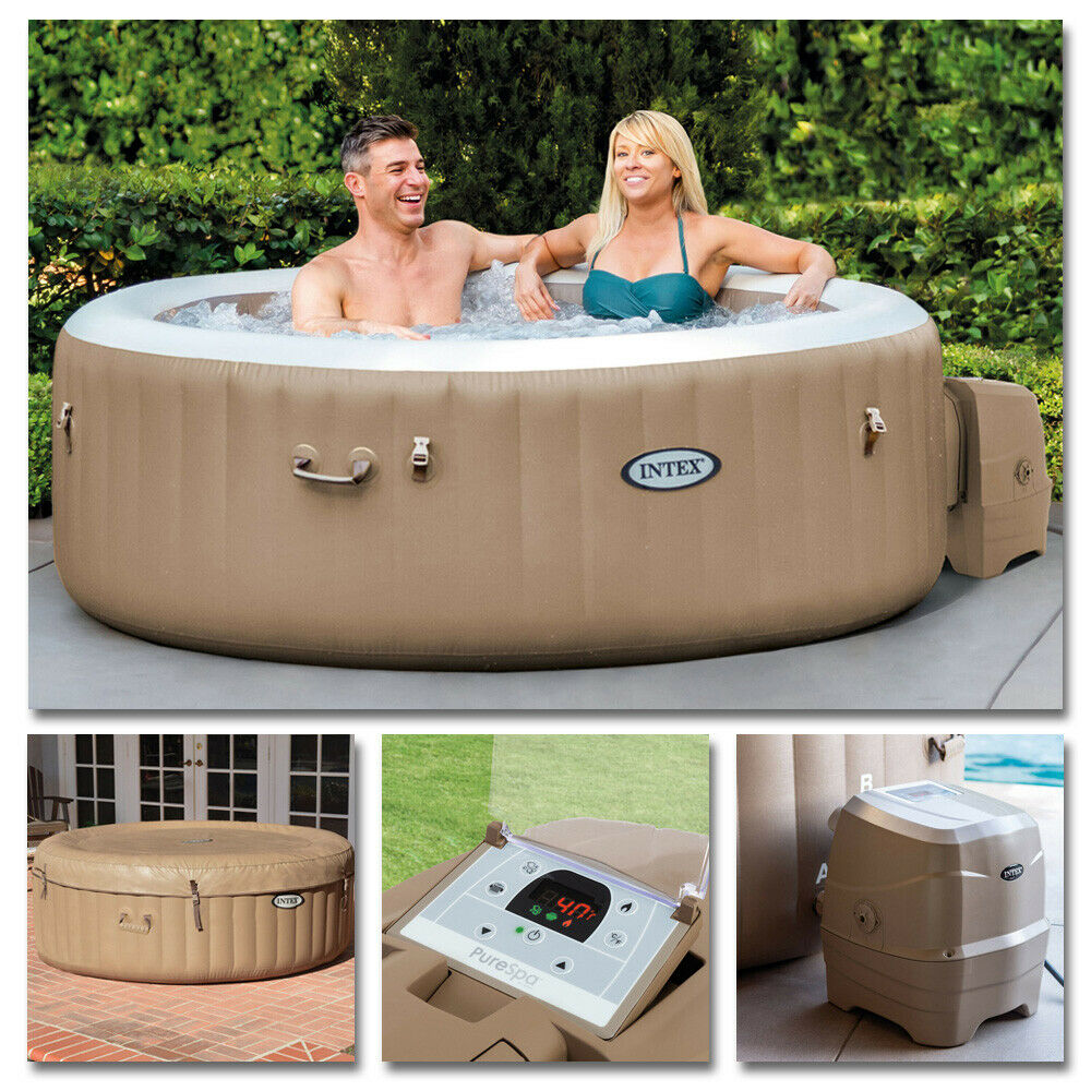 intex whirlpool pure spa 216x71 bubble massage f r 6 personen kalkschutz ebay. Black Bedroom Furniture Sets. Home Design Ideas