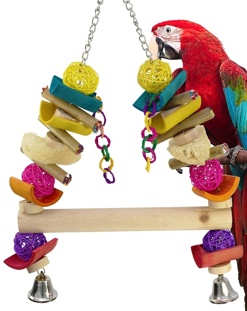 Bird Cage Toys : Huge java swing parrot bird cage toys cages toy chew