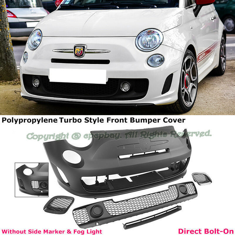 Fit 12-17 Fiat 500 500C Abarth Turbo Style Front Bumper