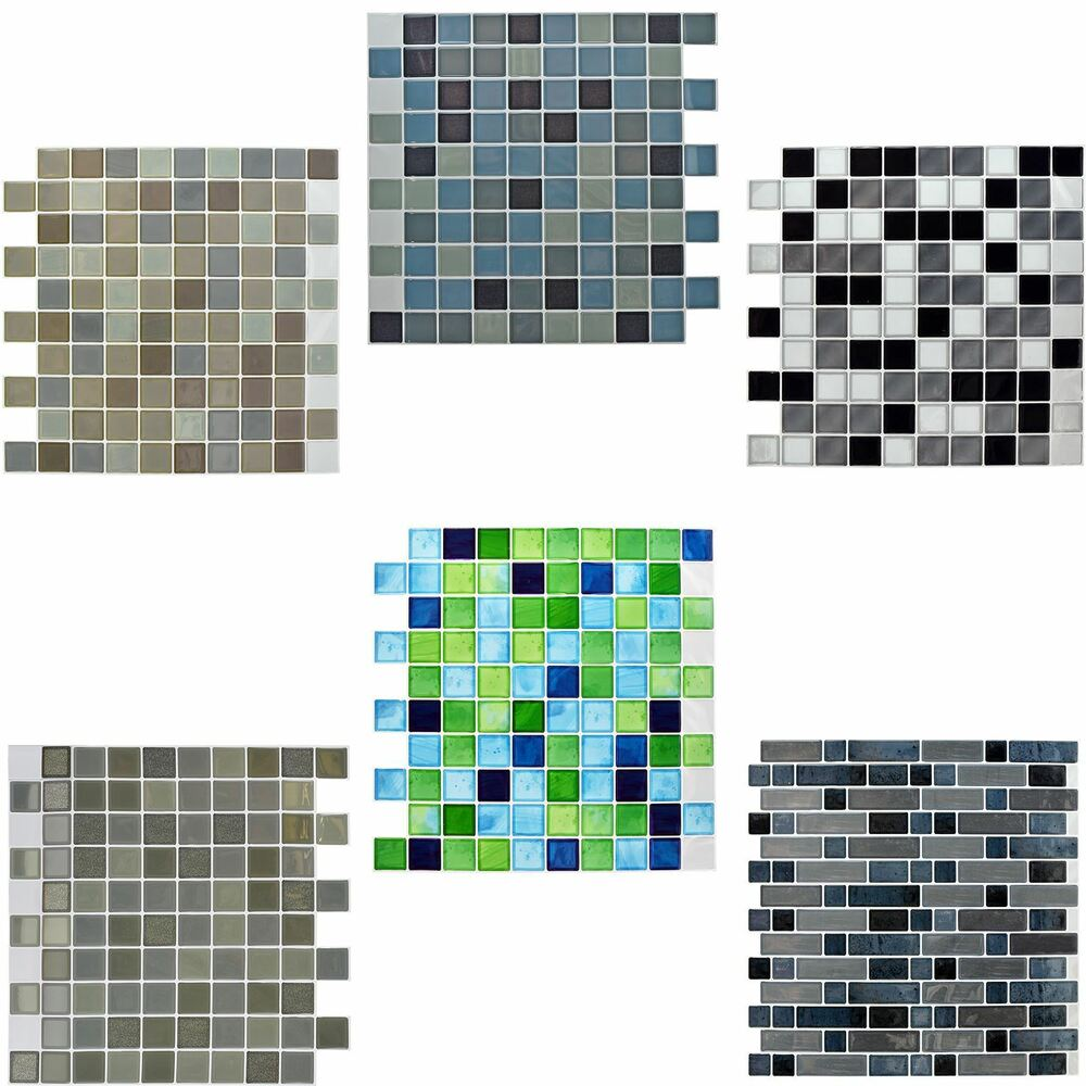 Self Adhesive Mosaic Tile Stickers Bathroom Kitchen