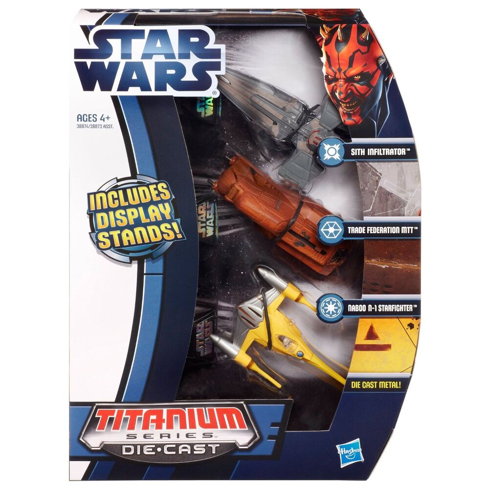 3-Pack Star Wars Titanium Vehicle Sith Infiltrator, Trade ...