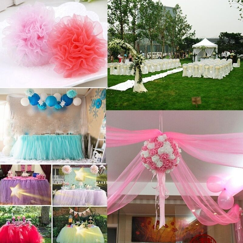 6 x 25yd tulle roll spool tutu wedding party gift wrap fabric craft decorations ebay. Black Bedroom Furniture Sets. Home Design Ideas