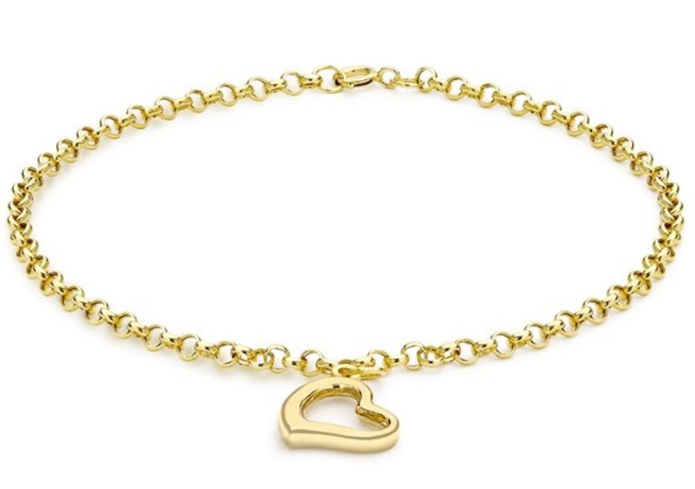 9ct solid yellow gold charm bracelet uk free gifts