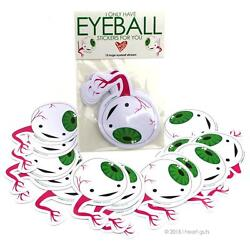 I ONLY HAVE EYEBALL STICKERS I HEART GUTS GIANT STICKER PACK OF 15 STICKERS SET