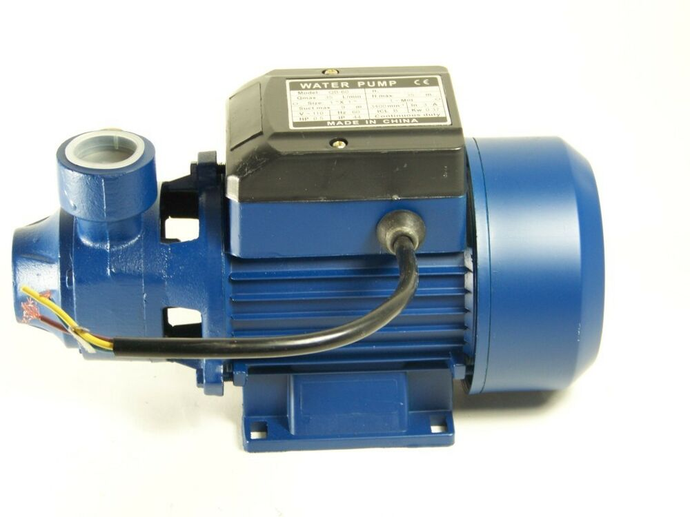 1 2 hp electric water pump pool garden pond centrifugal