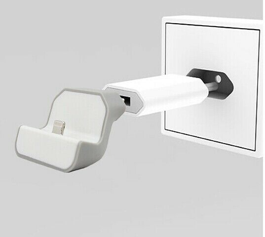 eu mini dock wall wireless usb charger charging station for iphone 5 5s 6 6s 7 ebay. Black Bedroom Furniture Sets. Home Design Ideas