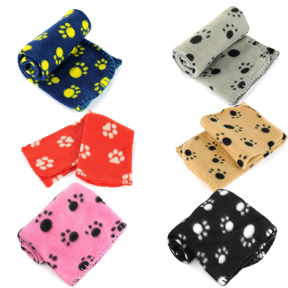 Lots Paw Print Soft Handcrafted Warm Pet Puppy Dog Cat