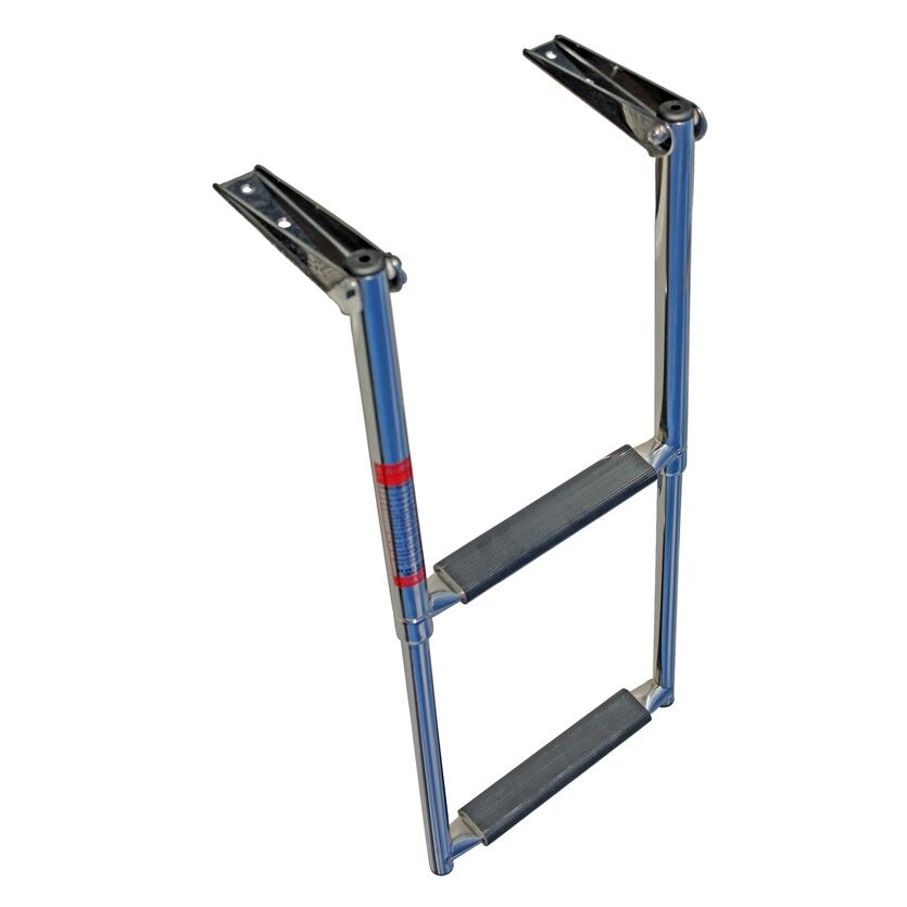 Telescopic Ladder Parts : Step telescoping boat ladder stainless steel upper