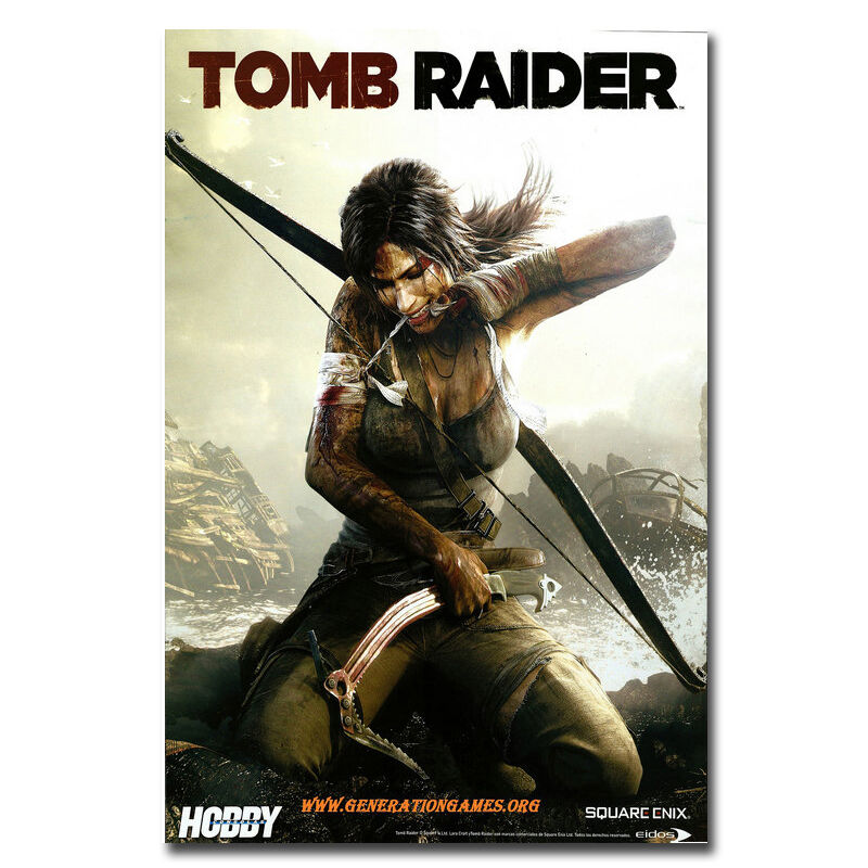 Rise Of The Tomb Raider Art Silk Fabric: TOMB RAIDER Video Game Silk Fabric Poster Print 12x18