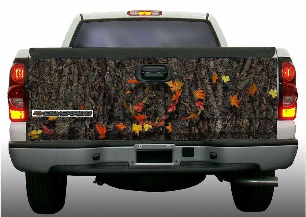 Oak Camouflage Hunting Fall Leaves Truck Tailgate Vinyl
