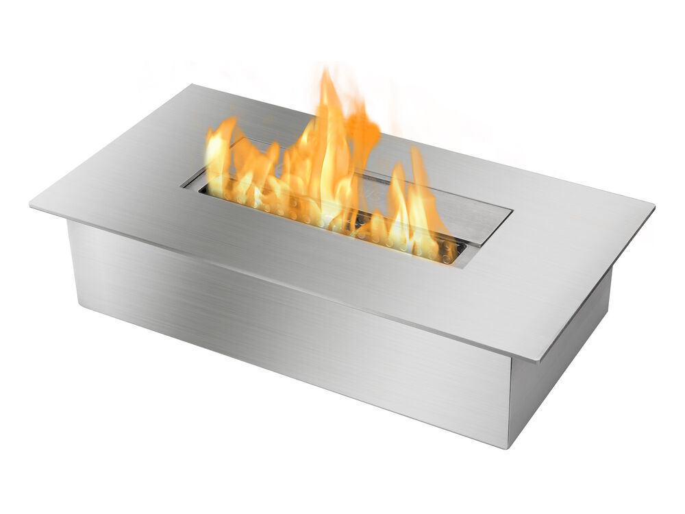 ignis ethanol fireplace burner eb1400 double layer stainless steel 3 liter ebay. Black Bedroom Furniture Sets. Home Design Ideas