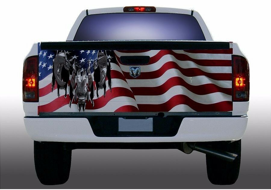 American Flag Dodge Ram Truck Tailgate Vinyl Graphic Decal