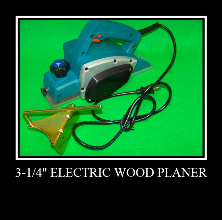 "3-3/4"" Electric Wood Planer Woodworking Power Tools 