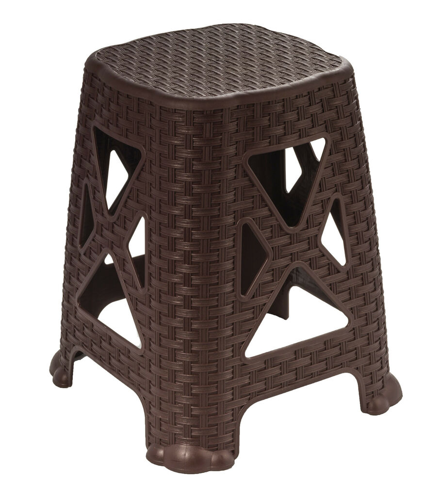 Superio 18 Quot Stool Wicker Look Brown Ebay