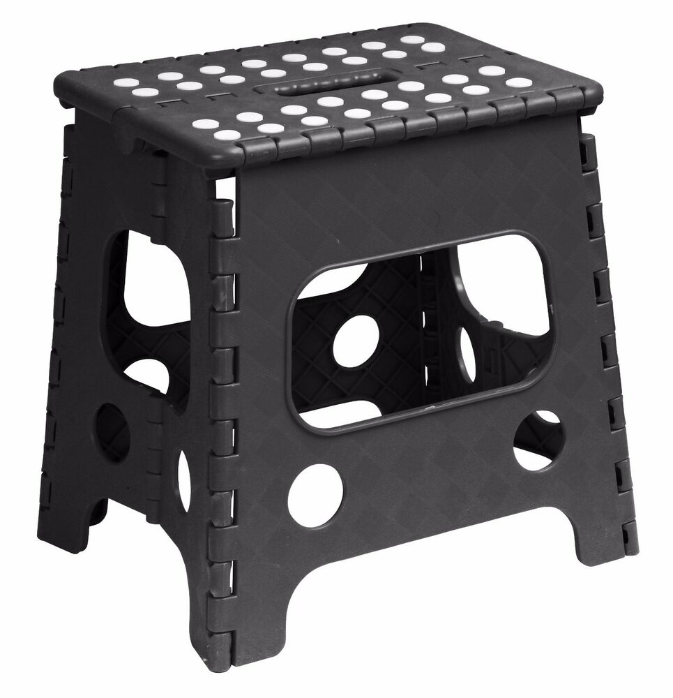 Folding Plastic Step Stool 13 Inch 255bk Superior