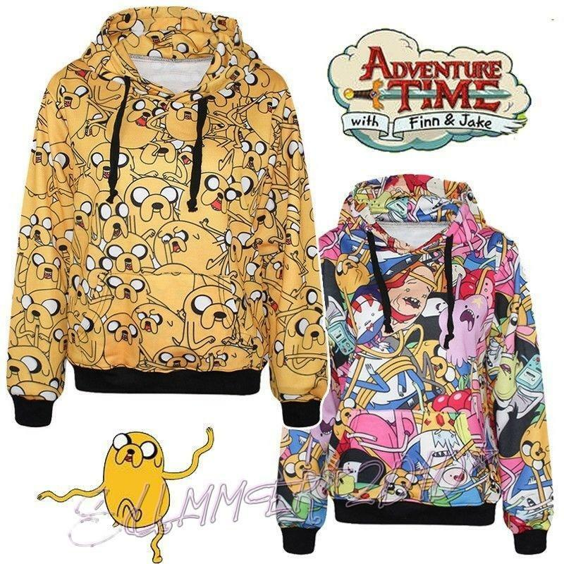 Adventure Time With Finn Casual Long Sleeve Unisex Hoodies