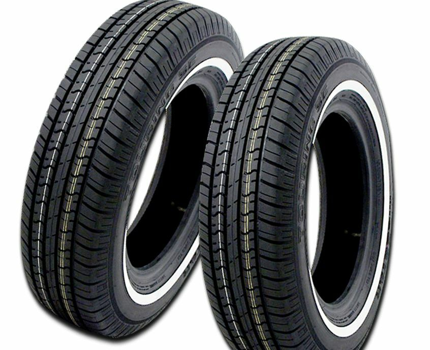 4 new milestar ms775 79s white wall tires 155 80r13 155 80. Black Bedroom Furniture Sets. Home Design Ideas