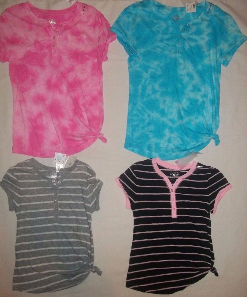 New justice girls size 7 8 10 12 14 20 tie dye stripe t for Girls shirts size 8