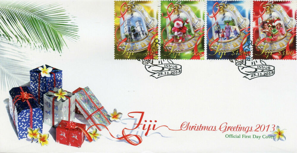 Fiji 2013 FDC Christmas Decorations 4v Set Cover Ornaments