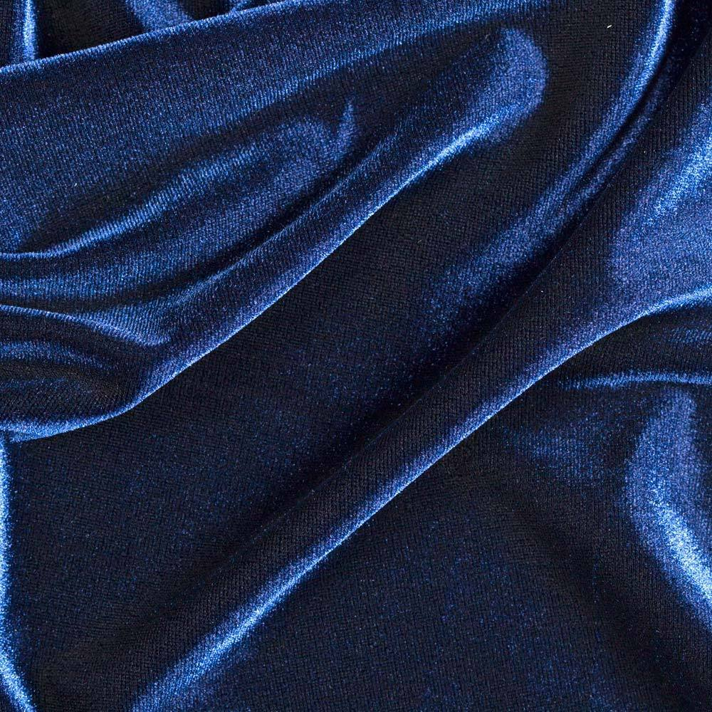 Stretch velvet navy fabric 58 wide sold by the yard for Velvet fabric