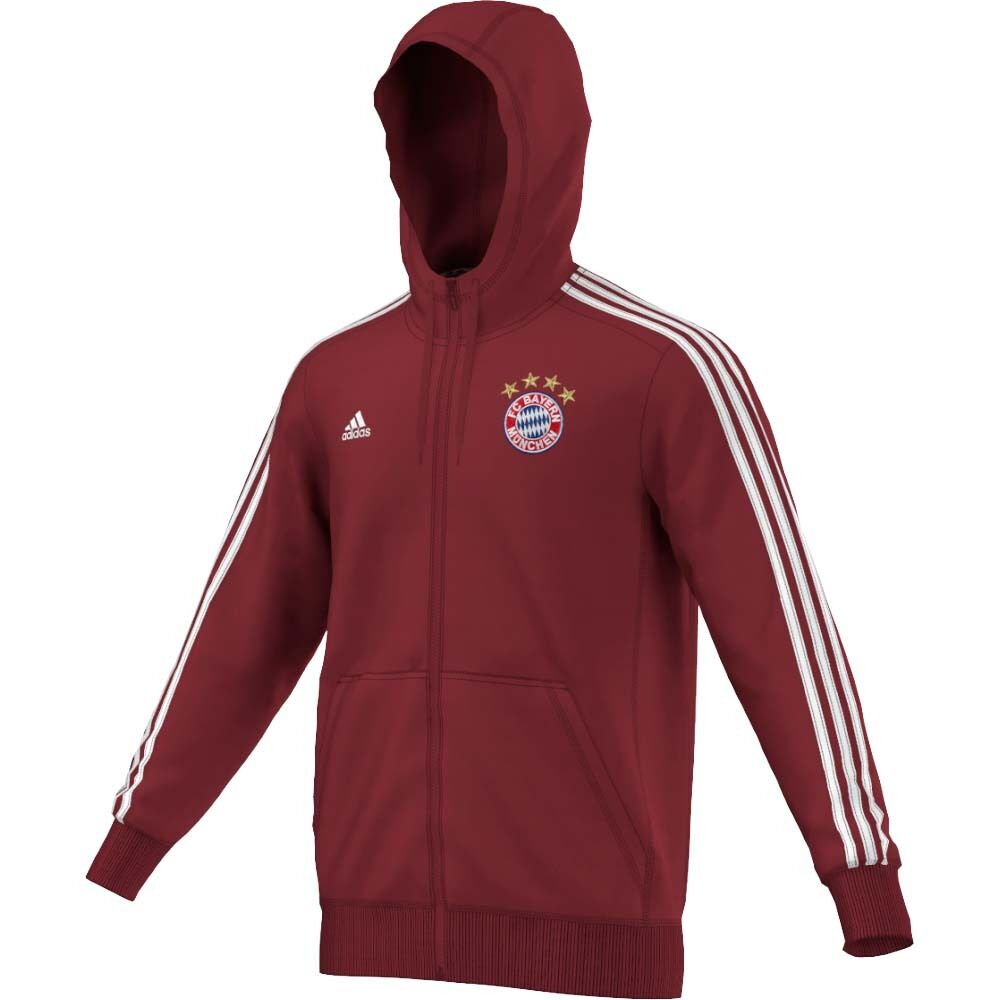 adidas bayern munich hooded jacket 2016 15 ebay. Black Bedroom Furniture Sets. Home Design Ideas
