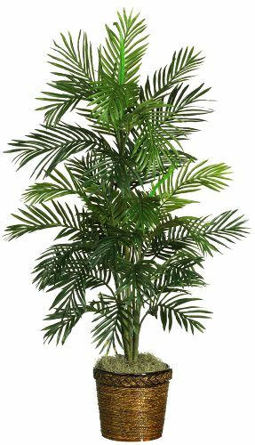 4 feet large artificial areca palm silk tree fake plant potted yard out indoor ebay. Black Bedroom Furniture Sets. Home Design Ideas