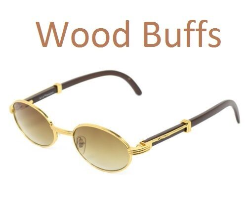 Gold Frame Oval Sunglasses : New Oval Wood Buffs Unisex Sunglasses Oval UV400 Lenses ...