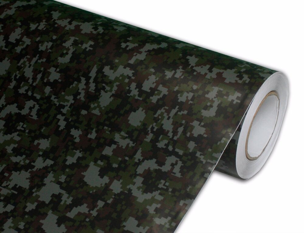 Camouflage Digital 4ftx5ft Printed Camo Vinyl Car Wrap
