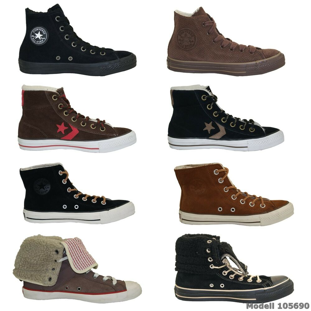 converse all stars high top sneakers chucks boots herren damen winter schuhe neu ebay. Black Bedroom Furniture Sets. Home Design Ideas