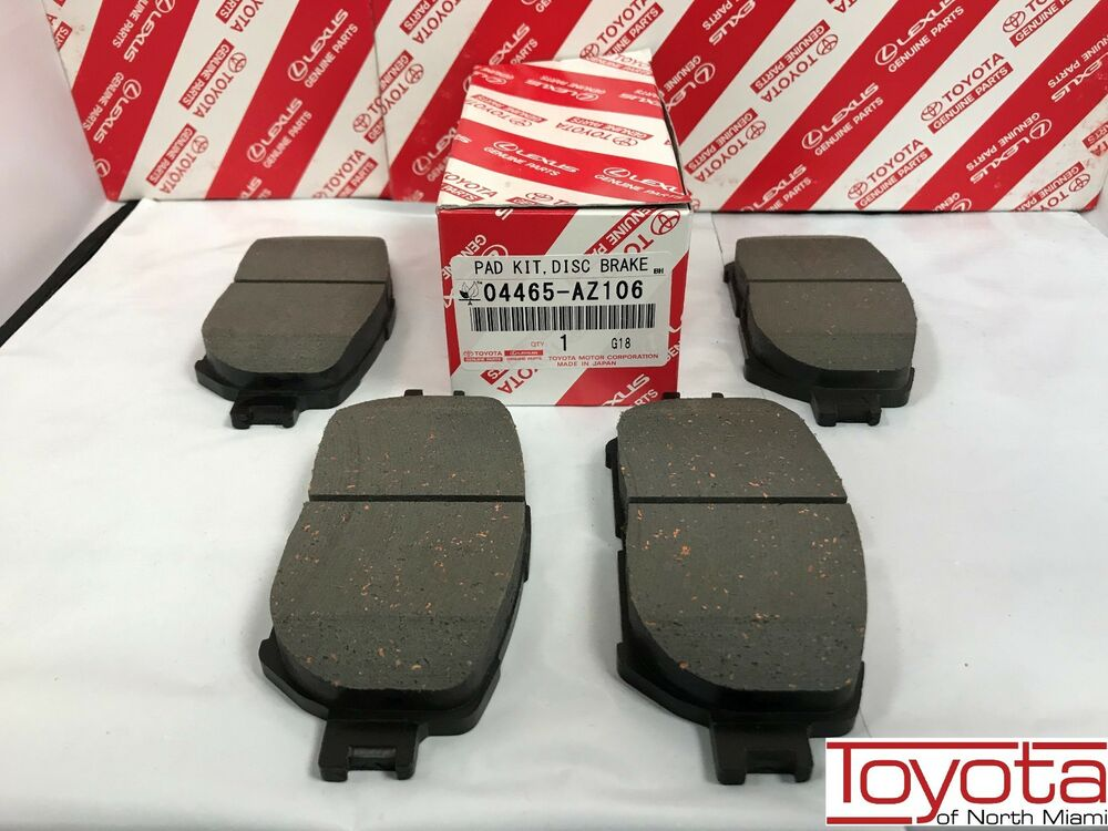 2002 2006 toyota camry oem front genuine brake pads 04465 az010 tm ebay. Black Bedroom Furniture Sets. Home Design Ideas