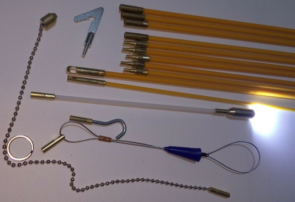 Wire Fish Rod : Cable access kit fiberglass push pull rod for pulling wire