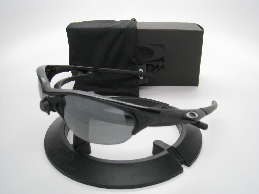 264d239cc7 oakley polarized half jacket 12 800 jet black black iridium sunglasses