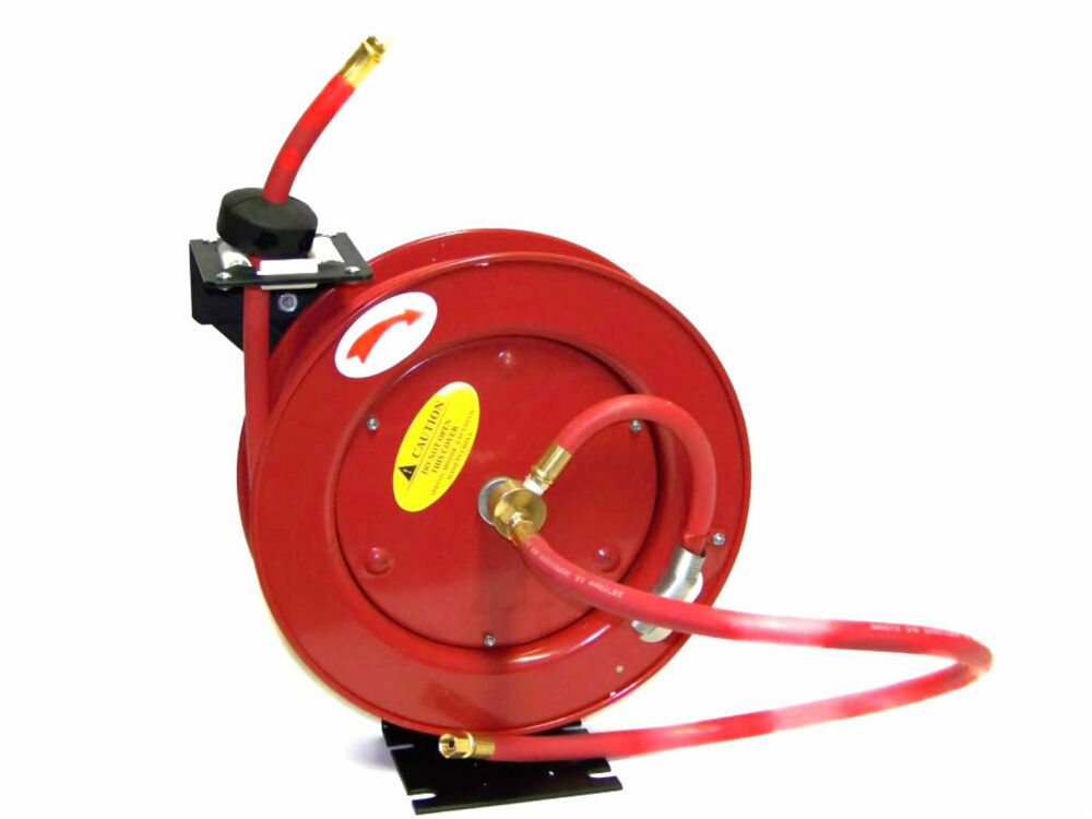 retractable air hose reel 25 ft 3 8 quot id retractable reel air hose ratchet type air 29036