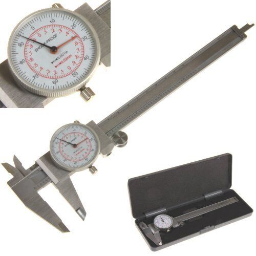 Dial Caliper 6 U0026quot     150mm Dual Reading Scale Metric Sae
