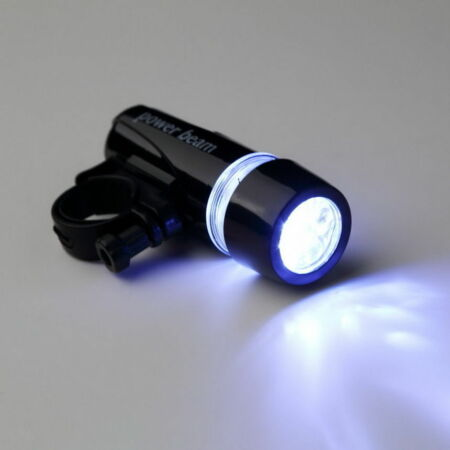 img-MINI LAMPE TORCHE SUPER PUISSANT VELO MILITAIRE 5 LED TYPE POLICE + SUPPORT