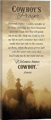 Cowboy S Prayer Gallery Wrapped Canvas Print 18 Quot X 8 Quot By