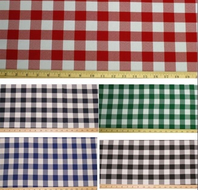 Checkered Fabric 60 Quot Wide Gingham Buffalo Check Tablecloth
