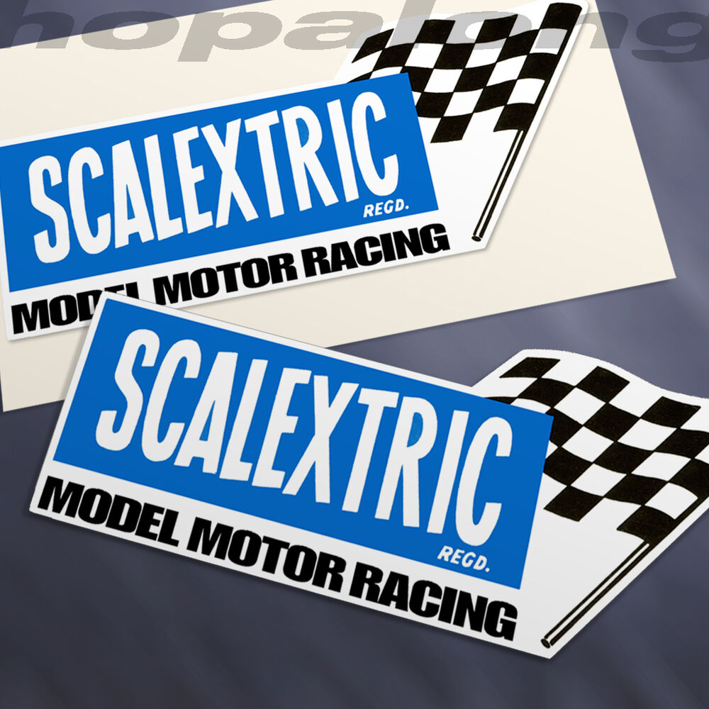 Details about vintage style scalextric decals x2 sd1130