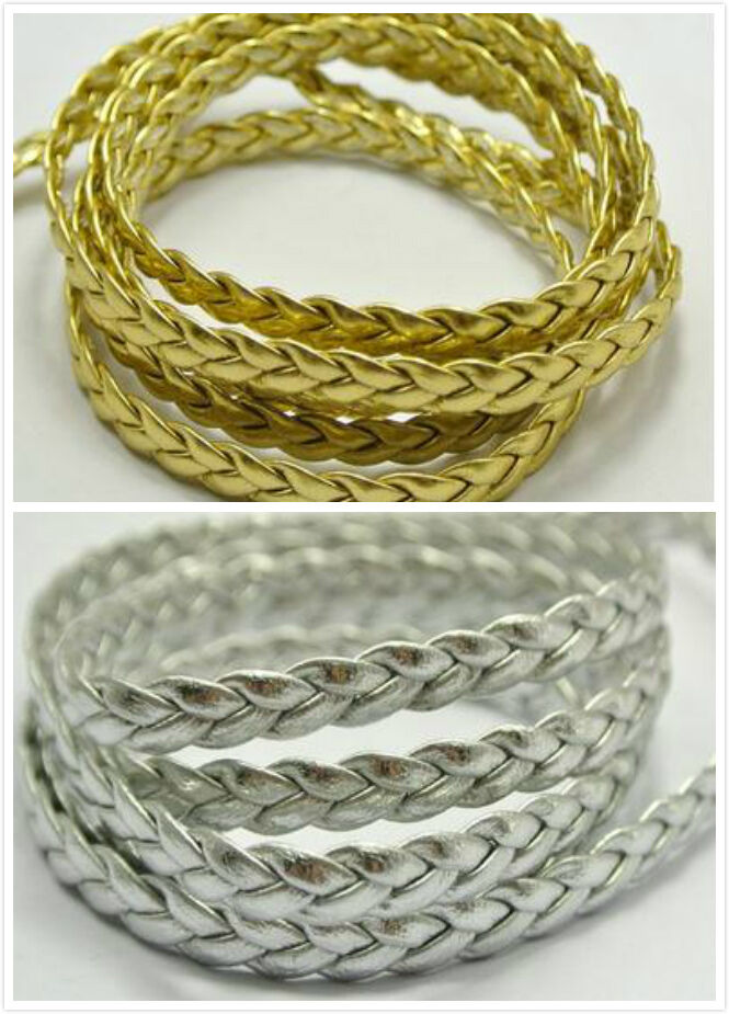 5 50m leather braid rope hemp jewelry cord for necklace