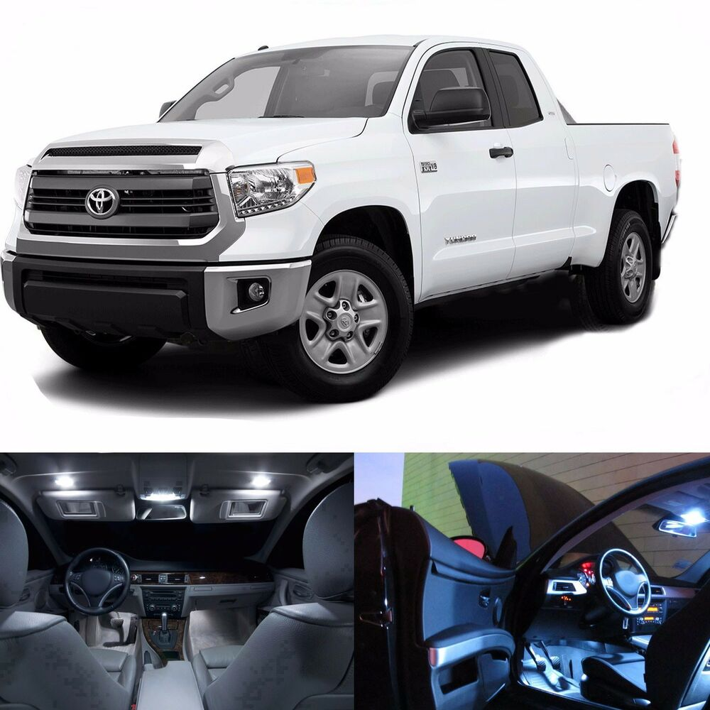 Led White Lights Interior License Package Kit For Toyota Tundra 2008 2015 Ebay