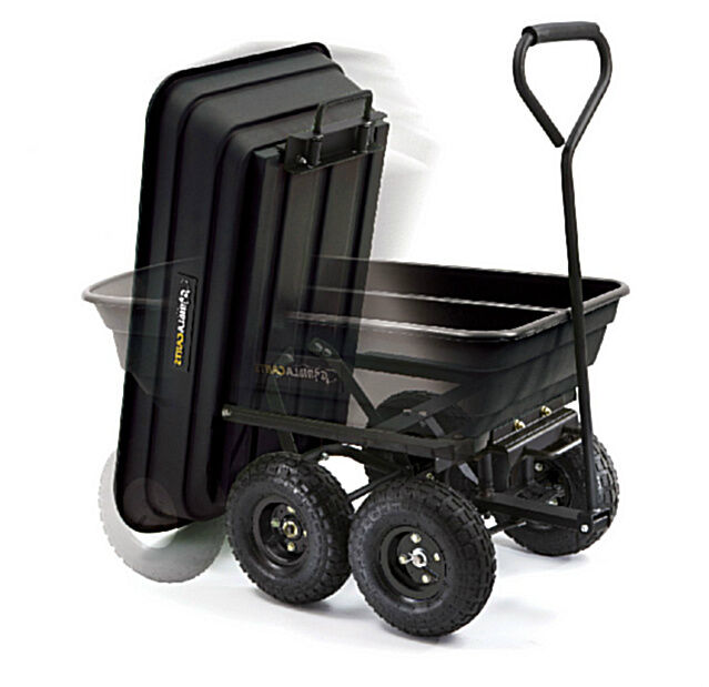 Garden Utility Cart With Wheels : Garden dump cart with big wheels wheel wheelbarrow yard